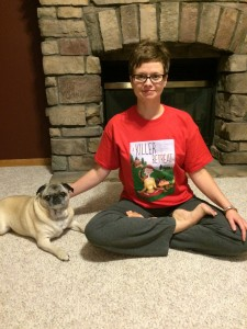 Reader Missy Schwebach and her dog Heidi