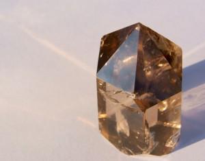 Smoky Quartz Crystal in Sun