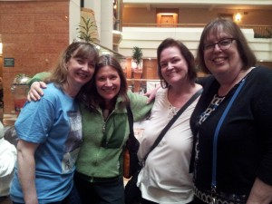 Me and three of my fellow nominees the day before the conference.  I had just arrived at the hotel.